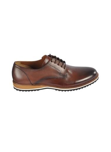 Luciano Bellini E404 Siyah Erkek Günlük Hakiki Deri Ayakkabı Kahve